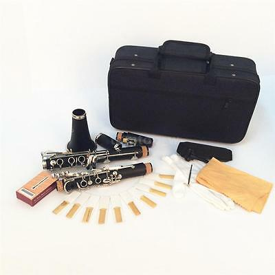 Hot Clarinet 17 Keys B Flat Black Professional Bakelite Nickel-plated