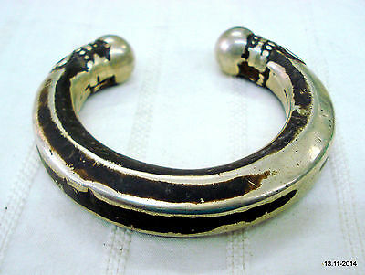 vintage antique bracelet bangle cuff  old silver tribal jewelry india