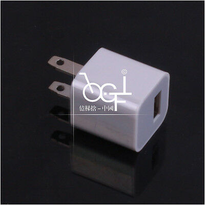 10pcs/Lot US Power Plug USB Wall Charger AC Adapter Connector For iPod iPhone