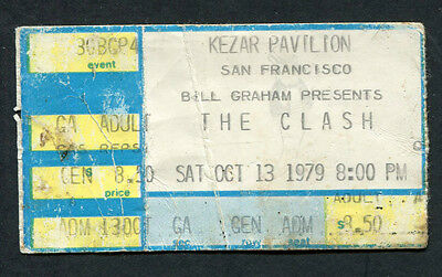1979 The Clash Concert Ticket Stub Kezar Pavilion San Francisco London Calling