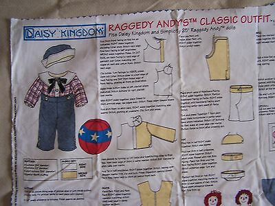 Raggedy Ann & Andy, Andy's Classic Outfit, Daisy Kingdom fabric panel # 1751
