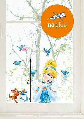 Kinder Disney Fenstersticker Cinderella Comics Home Sticker Fensterbild Märchen