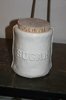 Fitz & Floyd Canister Container Sack of sugar with cork top. 1974. Rare Rare