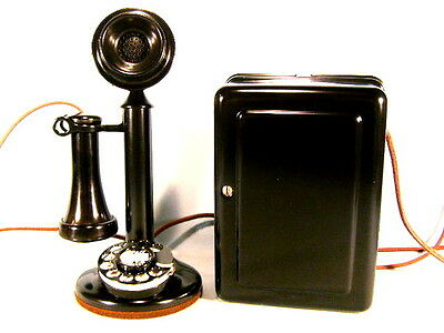 BEAUTIFUL WESTERN ELECTRIC DIAL CANDLESTICK TELEPHONE, RESTORED & WORKING PHONE