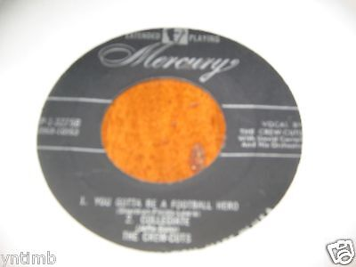 THE CREW CUTS EXTENDED PLAY 45(MERCURY 1-3275)