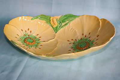 Vintage Carlton Ware yellow china serving oval dish bowl- Buttercup pattern