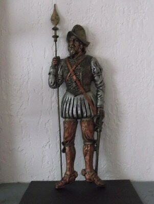 Vintage Spanish Conquistador Wall Sculpture Made in Mexico!!!!!