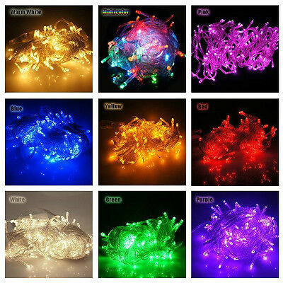 10M 100 Led Waterproof XMAS Christmas Wedding Party Outdoor Fairy String Lights