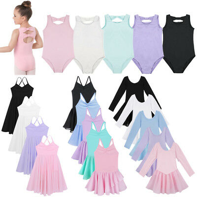 Girls Kids Xmas Ballet Tutu Skirt Gymnastics Leotard Dance Dress Skate Dancewear