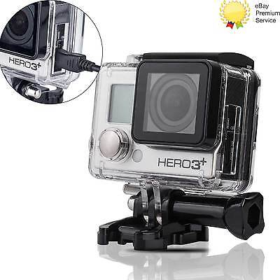 Protective Skeleton Opening Side Housing Case With Lens for Gopro HD Hero3+ 4