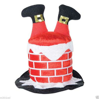 Santa Claus Chimney Hair Clip Christmas Holiday Funny Costume Accessory