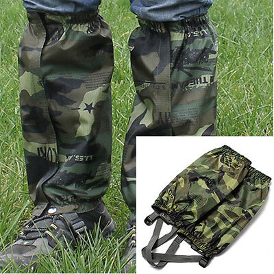 Camo Waterproof Outdoor Hiking Walking Climbing Hunting Snow Legging Gaiters