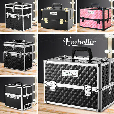 Professional Portable Cosmetics Beauty Case Makeup Case Box Carry Bag