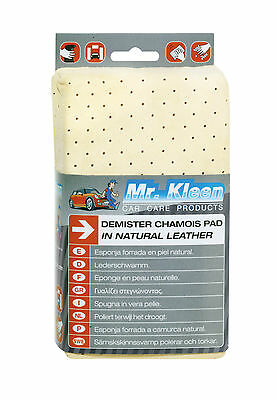 NEW! Mr Kleen Genuine Real Leather Demister & Car Drying Chamois Cloth Pad #310