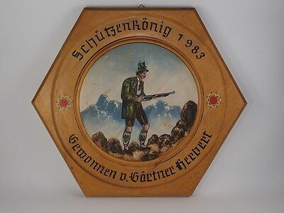 Nice German Wooden Hunt Target Vintage German 1983 - # 29
