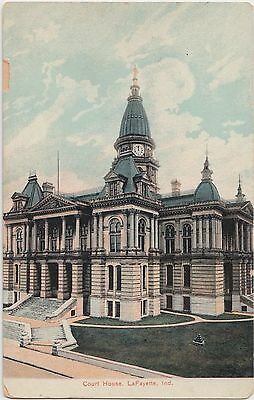 Indiana In Postcard c1910 LAFAYETTE County Court House Building