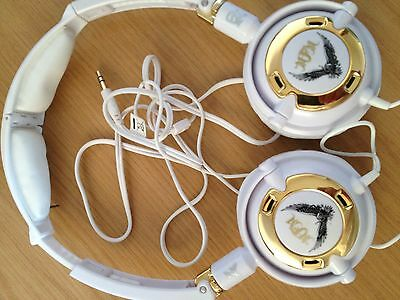 SKULLCANDY LOWRIDER WHITE/GOLD ON EAR HEADPHONES IPOD/IPHONE COMAPATIBLE