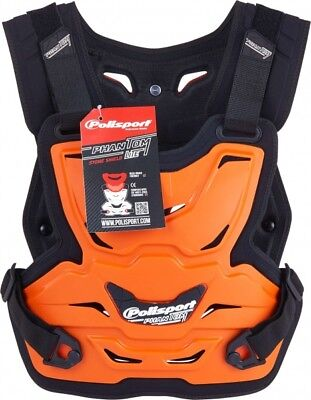 PHANTOM LITE STONE SHIELD MOTOCROSS ADULT ARMOUR Armor Roost deflector Orange
