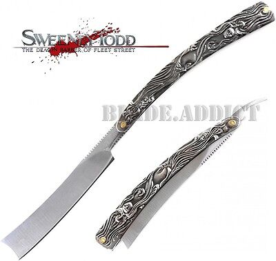"HUGE 11.5"" Sweeney Todd Straight Blade Barber Razor Pocket Knife Shaving 4196-T"