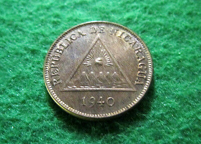 1940 Nicaragua Centavo - Uncirculated - Free Shipping
