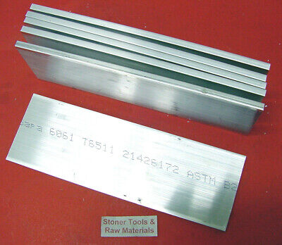 "6 pieces 1/4"" X 3"" ALUMINUM 6061 FLAT BAR 6"" long T6511 SOLID Plate Mill Stock"