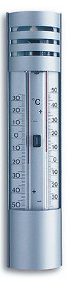 Gartenthermometer Tfa 10.2007 Min-Max-Thermometer  Aussenthermometer Alu Silber