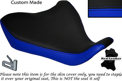 Royal Blue & Black Custom Fits Yamaha Mt 07 13-15 Front Leather Seat Cover