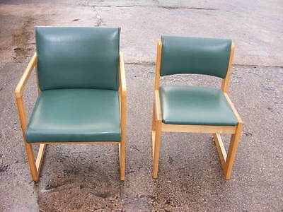 2 retro office chairs - ref 1655