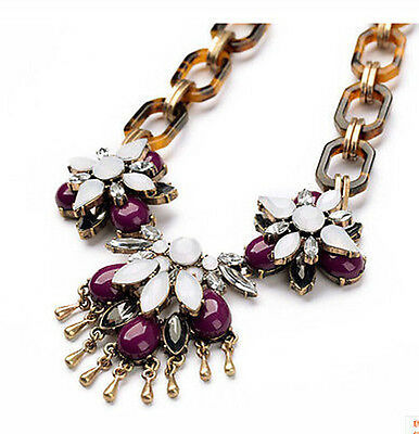 new design women bib statement bling gorgeous crystal coloured necklace collar