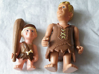 THE FLINTSTONES MOVIE TOYS, BARNEY & BAMBAM RUBBLE