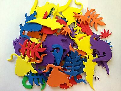 50 Dinosaur Self Adhesive Foam Shapes Stickers Teacher Supply Crafts Dino