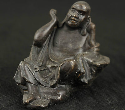Chinese Old Bronze Collectable Handwork Carved Buddha Statue Ornament