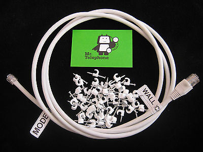 1M CAT6 DSL LEAD CABLE for FIBRE TELEPHONE LINES like BT INFINITY FTTC VDSL