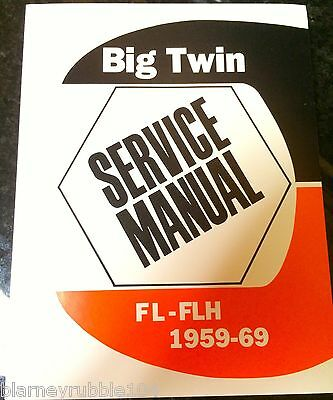 HARLEY FL FLH Service Manual 58 to 65 Panhead Electra Duo ... on