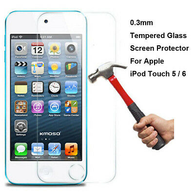 Premium Tempered Glass Screen Protector For Apple iPod Touch 5 / 6 5th / 6th Gen