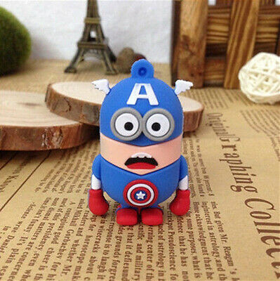 2014 Cartoon Minions Model 8GB USB 2.0 Enough Memory Stick Flash pen Drive S17