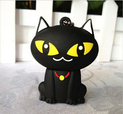 New Black Cartoon Cat Model 8GB USB 2.0 Enough Memory Stick Flash pen Drive S13