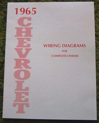 1965 Chevrolet Full Size Car Wiring Diagrams Manual for Complete Chassis 65