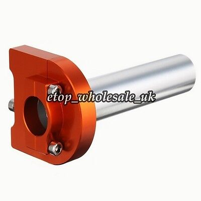 "Universal 7/8""22mm Orange CNC Throttle Handle Bar Lever Control For ZX ZZR ZRX"