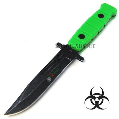 """9.5"""" Zombie Full Tang Stone Wash Survival Tactical Hunting Knife Camping 8086-F"""
