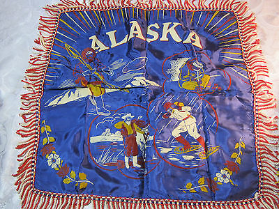 1940'S Wwii Era Alaska Pillow Case Cover Vintage Souvenir  T*