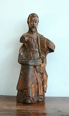 God the Father Carved Wood Antique Santo 17C