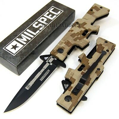 "8"" Rifle Gun Style Tactical Spring Assisted Open Pocket Knife YCS9016CAMO-F"
