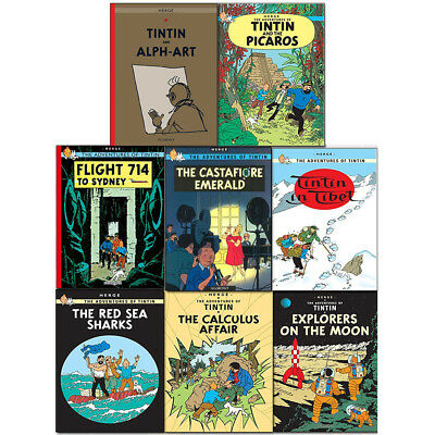 Hergé's The Adventure of Tintin Collection 8 Books Set (The Broken Ear, Blue)New