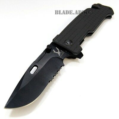 "8.5"" Half Pound Heavy Duty Tactical Spring Assisted Pocket Rescue Knife 6807-S"