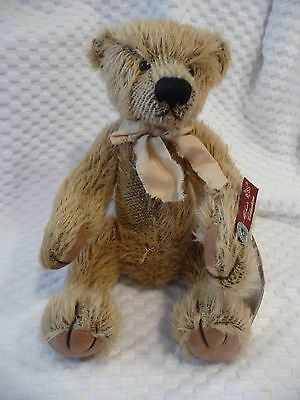 New Vintage Russ BENTLEY Mohair Collection Teddy BEAR Limited Edition-all tags!
