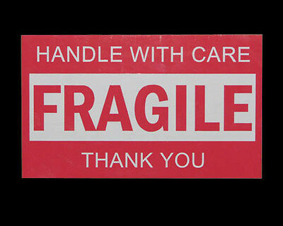 450PCS 76x50mm Fragile Handle With Care Thank You Adhesive Label Sticker Sheet