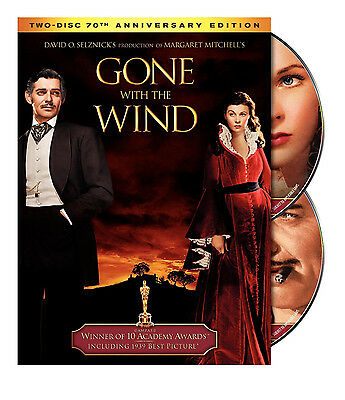 Gone With the Wind (DVD, 2009, 2-Disc Set, 70th Anniversary Edition) - NEW