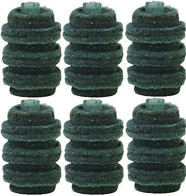 6 Pack Wool Felt Fuel Oil Filter Replacement Cartridge by General Filter 1A-30