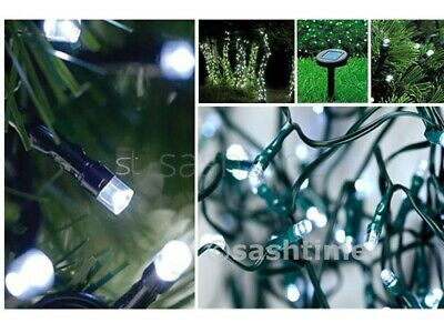 Christmas 50-500 Solar Fairy String White Led Garden Outdoor Party Wed Lights